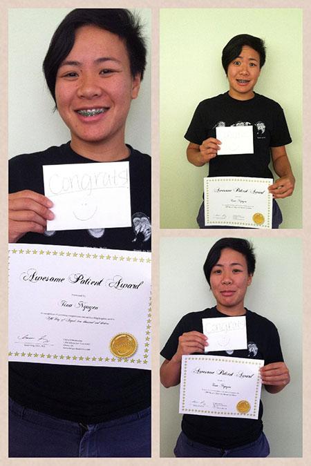 orthodontics patient award