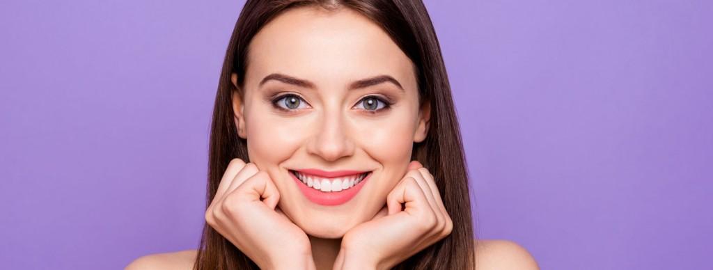 Woman with nice teeth